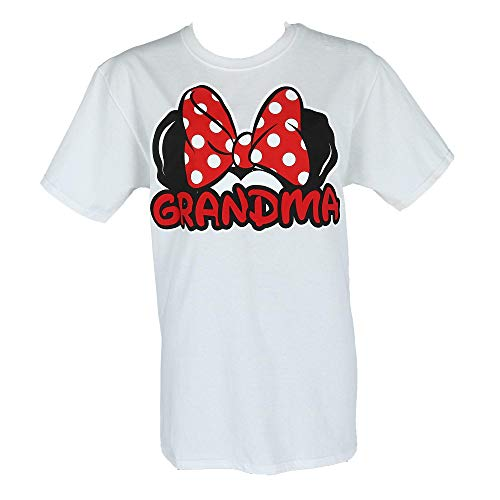Disney Adult Plus Size Womens T-Shirt Grandma Family Tee White (3XL)