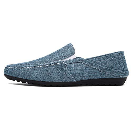 Casual Hombres Moda Lona Azul Hombre De Zapatos Slip En Mocasines Alpargatas Cáñamo 11q5wrY