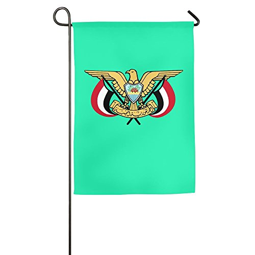Coat Yemen (JQKQQKJZL Coat Of Arms Of Yemen Family Garden House Home Demonstration Competition Flag 1218inch)