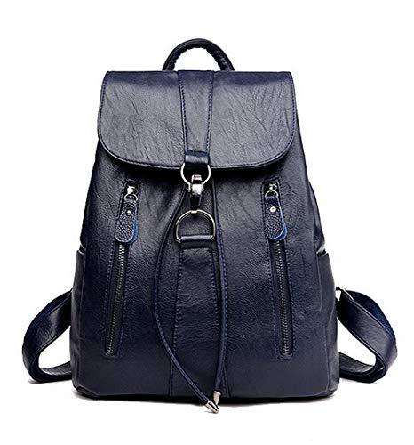à CCAFBQ182194 PU bandoulière Sacs Cuir Bleu Bleu Fête Tout Zippers fourre Femme VogueZone009 Sacs Pw4qzz