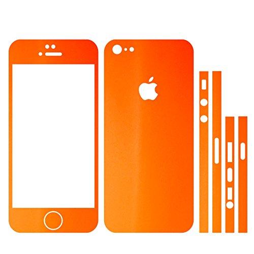 IPHONE 5 ORANGE MATT FOLIE SKIN ZUM AUFKLEBEN bumper case cover schutzhülle i phone