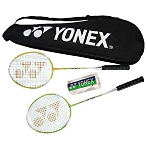 New! Yonex Badminton Racket Combination Set Recreational/ Backyard 2Player