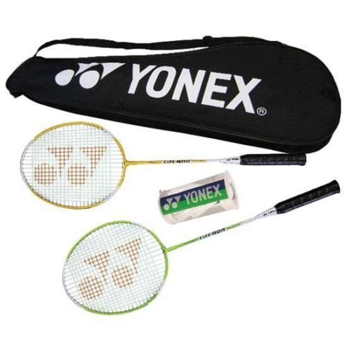 New! Yonex Badminton Racket Combination Set Recreational/ Backyard 2Player