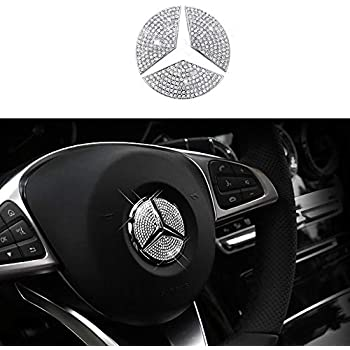 TopDall Steering Wheel Unique Crystal Badge Emblem Overlay Decal Decoration Cover  Sticker Trim for Mercedes-Benz A 8d560ce2fc8b