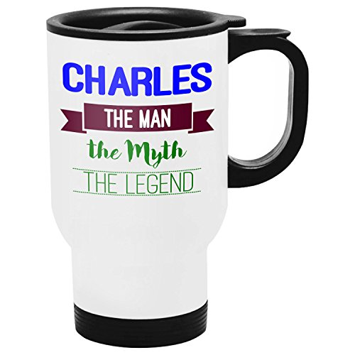 Charles Travel Mug, Personalized Gift, The Man the Myth The