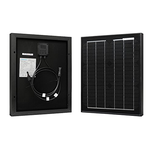 Renogy 20W 12V Monocrystalline Solar Panel High Efficiency Module Off Grid PV Power for Battery Charging, Boat, Caravan, RV and Any Other Off Grid - Module Watt 20 Solar