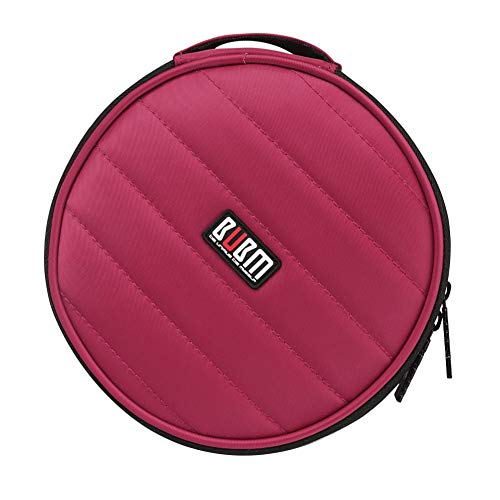 BUBM Portable Polyester CD/DVD Wallet 32 Disc Capacity Storage Carrying Case Bag Protector Organizer (Red)