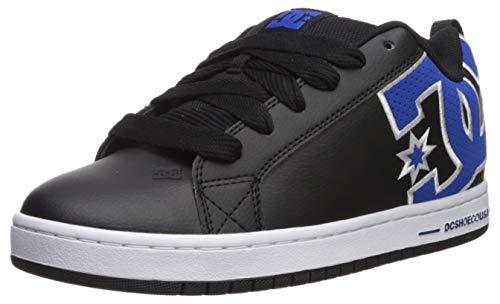 - DC Men's Court Graffik Se Skate Shoe, Black/Blue, 7.5 M US