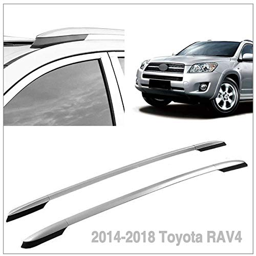 Autoxrun Silver Roof Side Rails Luggage Rack Fits 2014-2018 Toyota RAV4 (Rav4 Roof Rack)