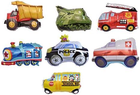 大きな風船 車両 カー 風船 タンク 救急車 電車 消防車 トラック バルーン おもちゃ 7個