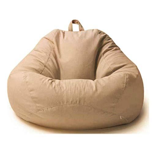 Kengsiren Bean Bag Sofa Lazy Sofa Bedroom Small Balcony Fabric Grain Bean Bag Recliner Perfect Leisure Or Home Or Garden Game Chair,E from Kengsiren
