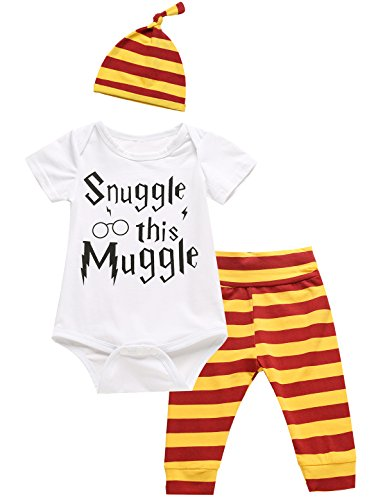 Halloween Clothes Boys (3Pcs/Set Baby Boy Girl Infant Snuggle this Muggle Rompers (0-3)