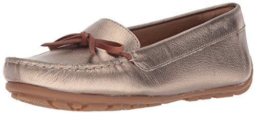 Swing Metallic Dameo Leather Pewter CLARKS Women's Driving Loafer Style qSWEC