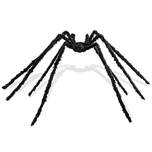 Halloween Spider Prop (6.6Ft Giant Spider for Halloween Party Decorations,Scary Spider Props for Halloween Outdoor Yard)