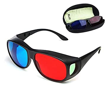 0adda24e7d Buy BIAL Red-blue 3D Glasses  Cyan Anaglyph Simple style 3D Glasses 3D  movie game-Extra Upgrade Style Online at Low Prices in India - Amazon.in
