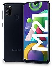 "Samsung Galaxy M21, Smartphone, Display 6.4"" Super AMOLED, 3 Fotocamere Posteriori, 64GB Espandibili, RAM 4 GB, Batteria 6000 mAh, 4G, Dual Sim, Android 10, 188 g, [Versione Italiana], Black"