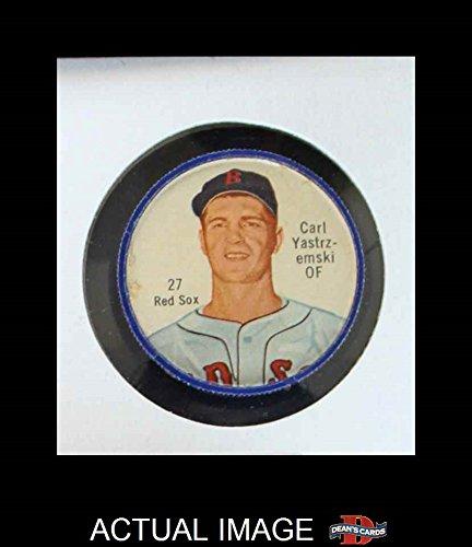 Salada Baseball Coins (1962 Salada Coins # 27 Carl Yastrzemski Boston Red Sox (Baseball Card) Dean's Cards 2 - GOOD Red)