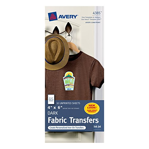 Avery T-shirt Transfers for Inkjet Printers, 4 x 6-Inches, P