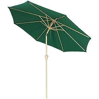 9 foot patio umbrella outdoor table market umbrellas with push button tilt8 ribs