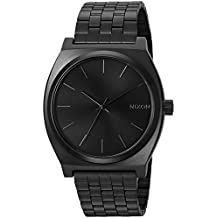 Nixon Men's ' Time Teller All Black Quartz Stainless Steel Sport Watch, Color:Black (Model: A045-001
