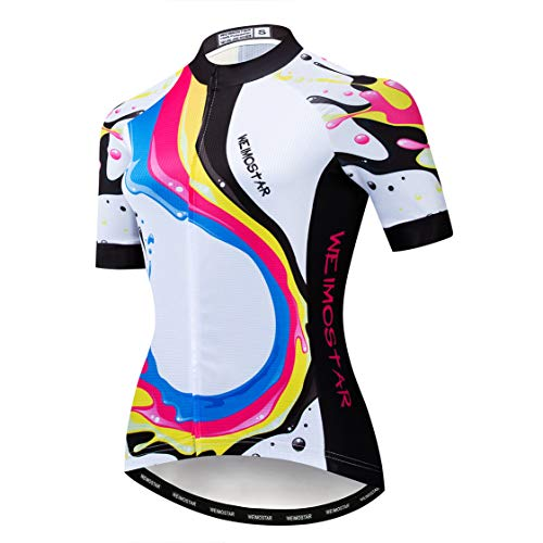 weimostar Cycling jersey Women Mountain Bike jersey Tops Short sleeve summer breathable quick dry