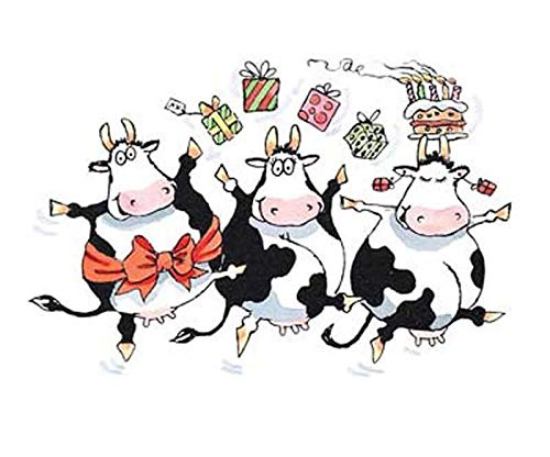 Party Cows - Rubber Stamp On Wood (1ks), Penny Black, Inc, Rubber, Stamps, Scrapbooking Paper