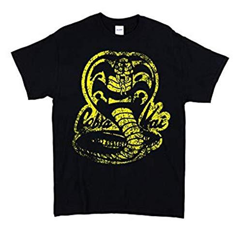 Cobra Kai Karate Kid Men Black T Shirt (Large)