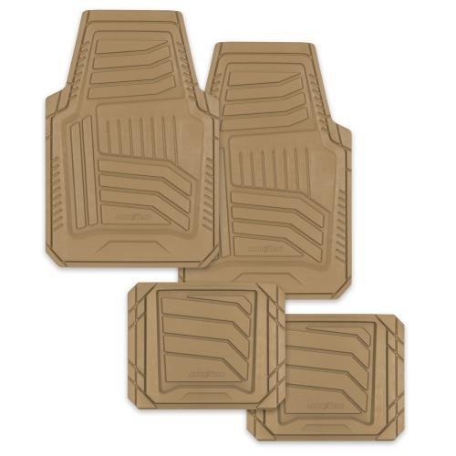 Goodyear Natural Rubber Floor Mat Set, Tan, 4pcs (805823)