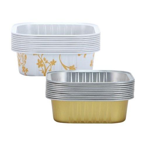 Hanna K. Signature 15005 Square Aluminum Baking Pans, 2 3/4'', Gold