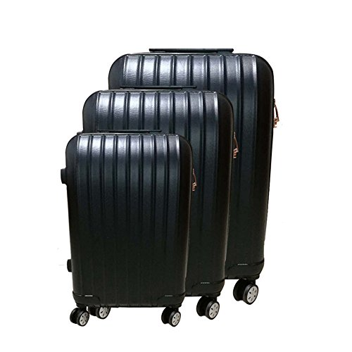 Collection 4 Piece Luggage Set (Bayland 3 Piece Weight Indicating Hardside Spinner Luggage Sets Black)