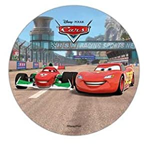 DISNEY PIXAR CARS CAKE TOPPER 21 CM EDIBLE WAFER / RICE ...