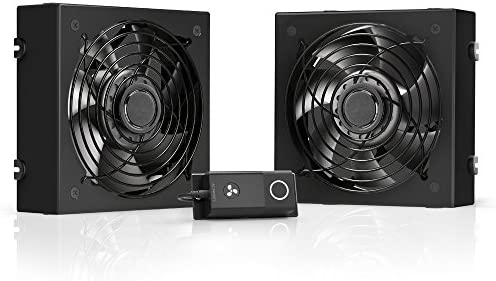 Ac Infinity Rack Roof Fan Kit Quiet Dual Fans With Speed Controller For Cooling Av Home Theater Network 19 Inch Racks Mp3 Hifi