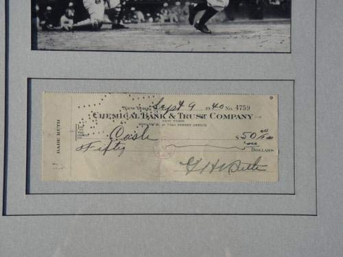 Babe Ruth Certified Authentic Signed Check Autographed Mint Yankees PSA/DNA Certified MLB Cut Signatures