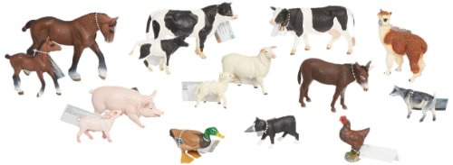 Childcraft On the Farm Hand-Painted Play Figurine Animals, Assorted Animals (Set of 15)