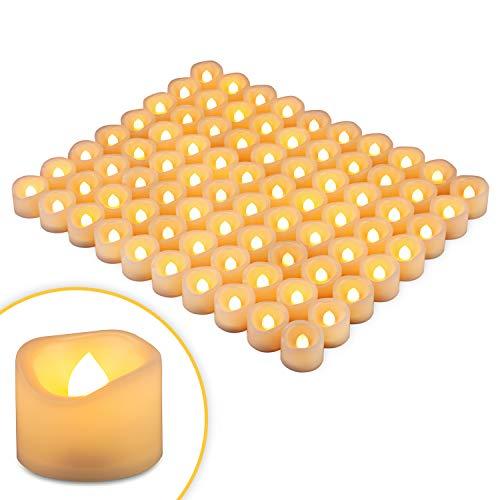 Flickering Tea Lights Battery - Kohree LED Tea Lights Candles, 80