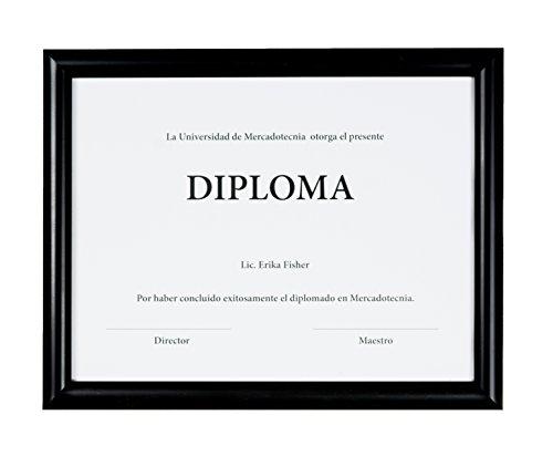 Marco para diploma, certificado, documento, marco color negro, para enmarcar documentos tamaño carta 8.5 x 11 (21.5 x 28...