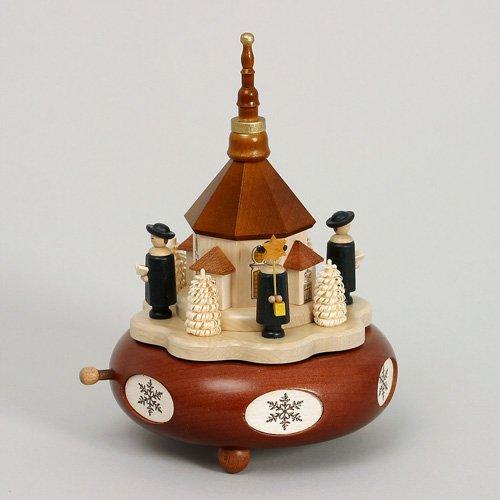 Spieldose Spieluhr Seiffener Kirche Kurrende 19cm Handarbeit Erzgebirge NEU