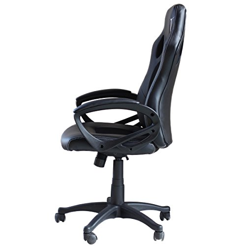 41AybjAZn3L - Video-Gaming-Chair-Home-Office-Computer-Chair-With-Height-Adjustable-Ergonomic-Lumbar-Support-Mesh-High-Back-Racing-Chair