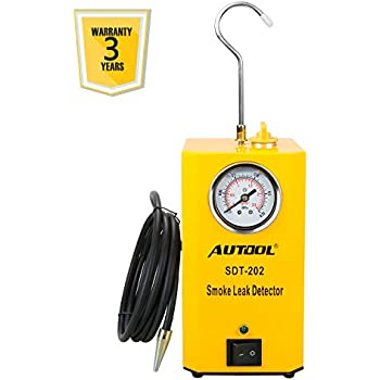 AUTOOL SDT-202 Car EVAP System Leak Testing Machine Leak Detector, 12V Automotive Fuel Pipe System Leak Tester with EVAP Adapters for All Vehicles - 3 Years ...