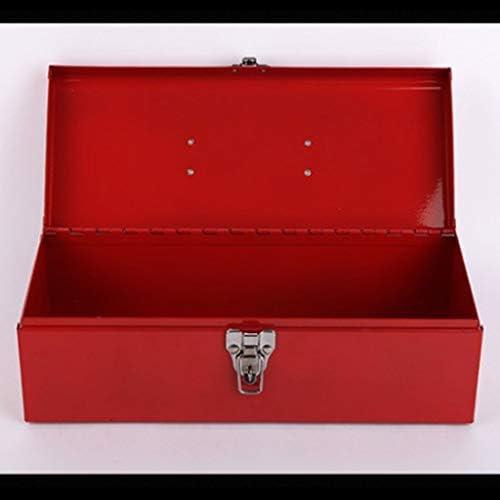 HLD ハードウェア用品単層ポータブルレッド肥厚ツールボックスの高負荷ベアリングは、ツールキットをスプレー ツールボックス