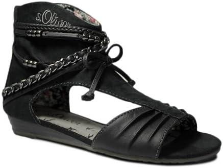 s.Oliver Damen Sandalen Schwarz Schaft Sandalette