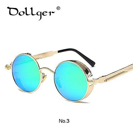 6ccc7b0714369 Shopystore C3  Dollger Vintage Kasubi Steampunk Mirror Sunglasses Women Men  Oculos De Sol Feminino  Amazon.in  Clothing   Accessories