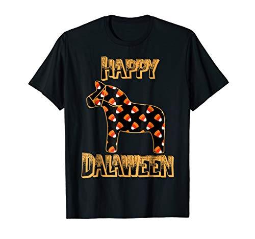 Happy Dalaween Funny Swedish Dala Horse Halloween -