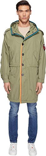 Marc Jacobs Mens Oversized Rip Stop Parka Olive 46 (US 36) One (Marc Jacobs Olive)