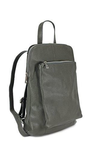Belli - Bolso mochila  de Piel para mujer Multicolor marrón Gris - gris
