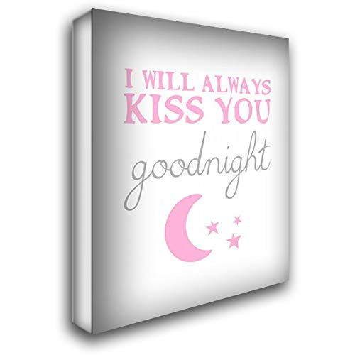 Kiss You Goodnight 37x47 Extra Large Gallery Wrapped Stretched Canvas Art by Amori, Miyo