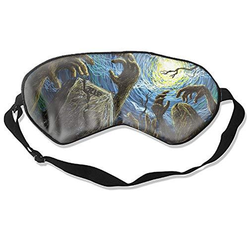 Sleeping Eye Mask Scary Graveyard Night Halloween Blindfold