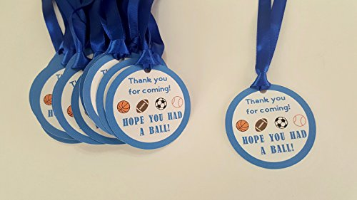 Sports Ball Birthday FAVOR TAGS Thank you personalized by The Pink Papermill