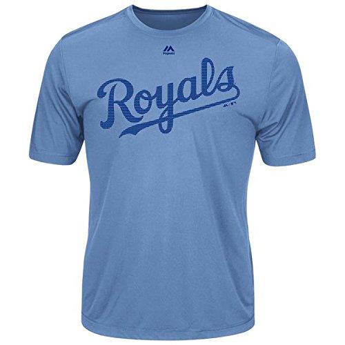 Majestic Men's Cool Base MLB Evolution Shirt Kansas City Royals - Royals Cool Kansas City
