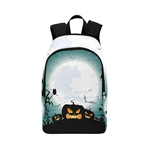 YSWPNA Halloween Night Concept Poster Casual Daypack Travel Bag College School Backpack for Mens and Women ()